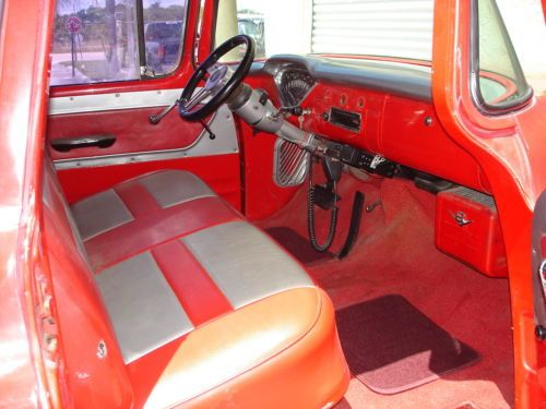 Purchase Used 1955 Red Chevy Pickup Truck Short Bed Big