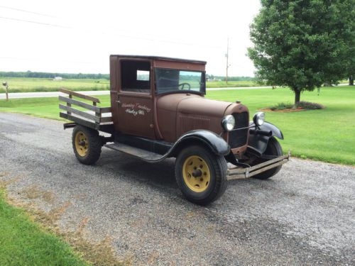 Buy Used 1929 Ford Model Aa Stake Bed Truck Running
