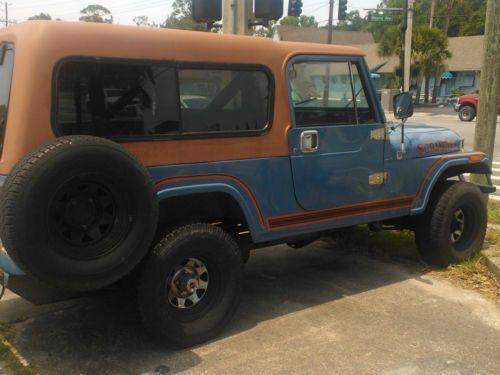 Buy Used Jeep Scrambler CJ8 Sky Blue WRally Top Amp Family