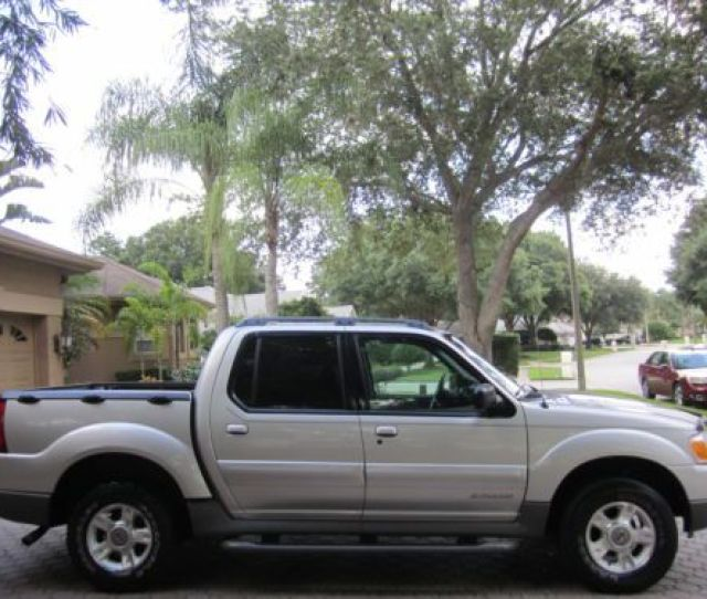 2002 Ford Explorer Sport Trac 2wd Leather Cd Alloys Towing Luggage Rack Pristine