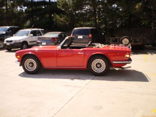 Purchase Used 1972 Triumph Tr6 Tr 6 Red Convertible