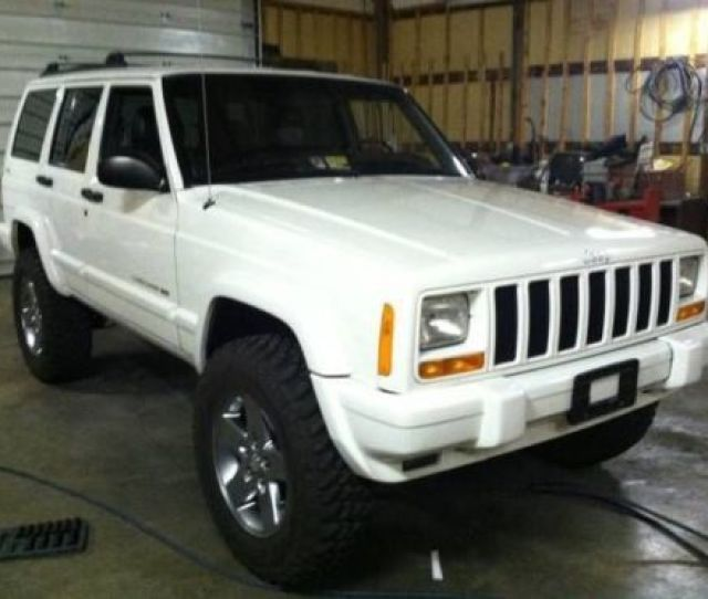 2001 White Jeep Cherokee Limited Lifted 4wd Leather Good Miles Sexy