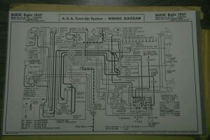 Sell 1957 Buick Wiring Diagram Dynaflow Tune Up Sheet