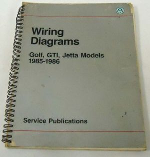 Purchase VW Service Manual WIRING DIAGRAMS Golf, GTI
