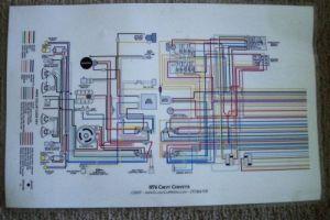 Buy 76 Corvette (lamanated) Wiring diagram motorcycle in