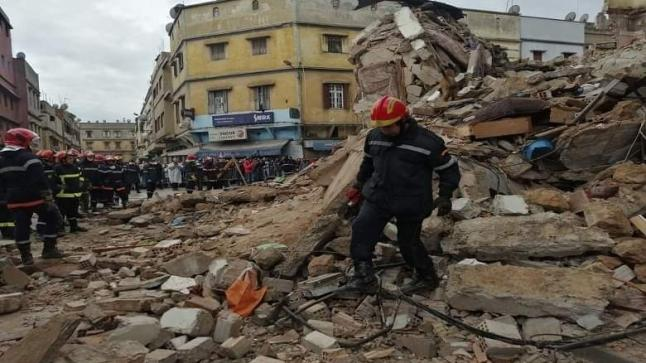 سلطات البيضاء تنقذ شخصا بعد انهيار منزل بالمدينة القديمة