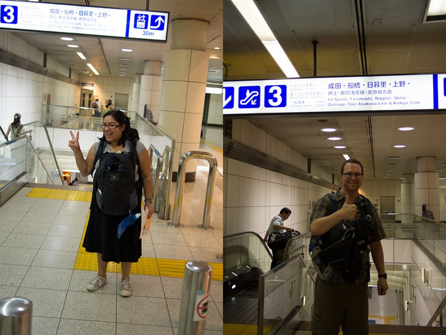 Six months ago: Touching down in Japan!