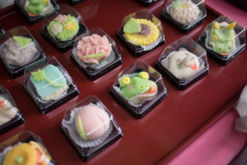 Mystery marzipan (?) confections. They were adorable! Too cute to eat!