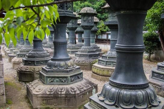Lanterns at Toshu-gu.