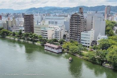 Hiroshima along the Ota river