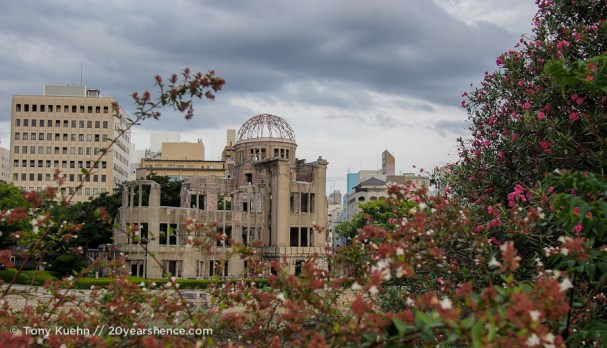 Perhaps one of the most salient images along Peace Park – the A-Bomb Dome
