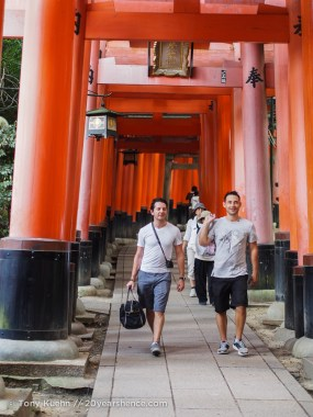 The first torii are some of the grandest
