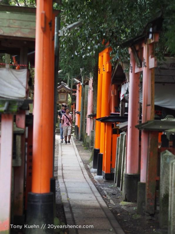 Walking through the upper portion of fushimi inari