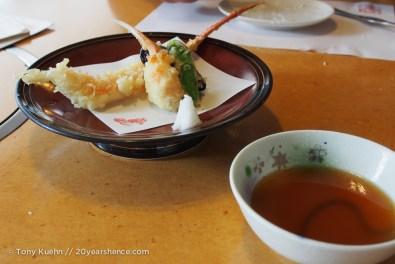Exquisite tempura crab