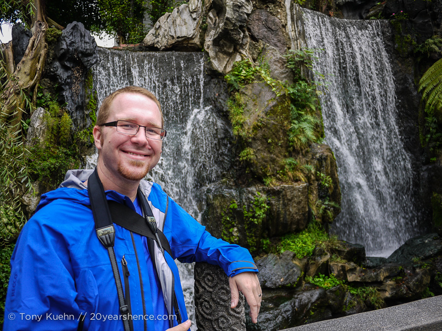 Come for the waterfall, stay for the charming tourist