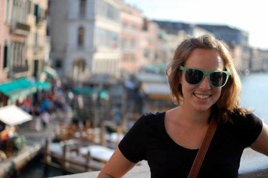 Jill on a bridge in Venice, Italy