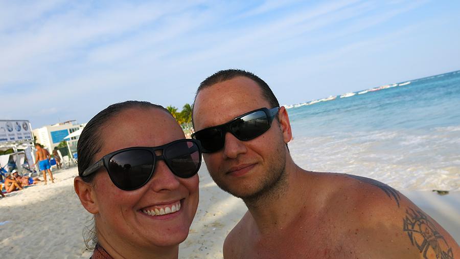The happy couple, Sarah & Tyrhone