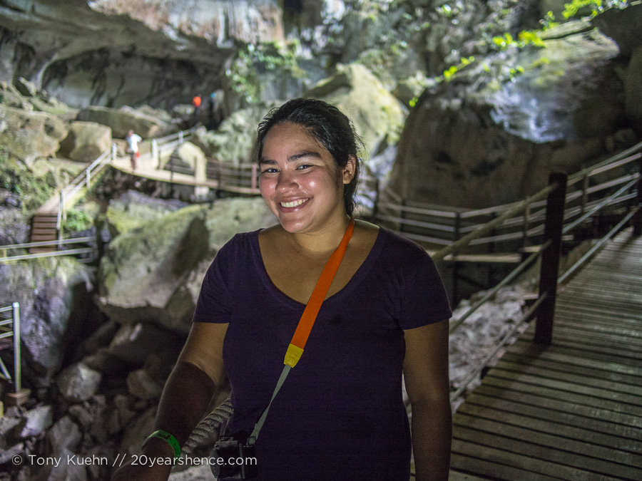 In one of the biggest caves in the world