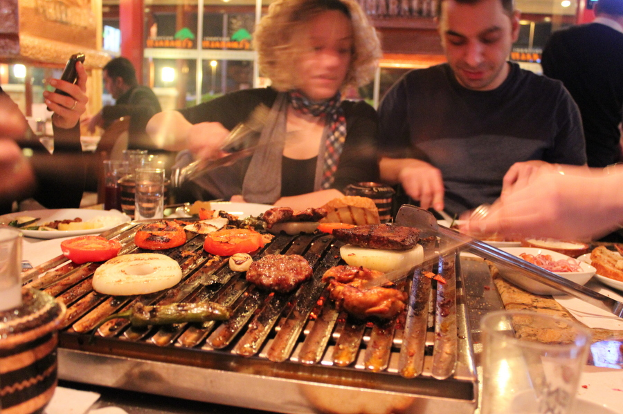 Grilling up some innards in Istanbul
