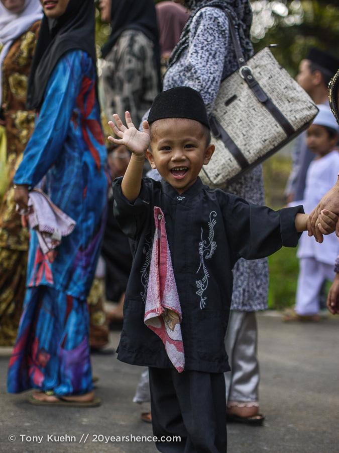 Child celebrates the prophet's birthday