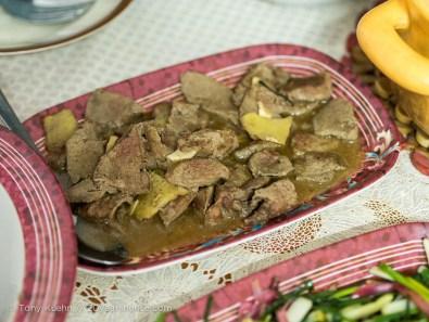 Pork liver with ginger