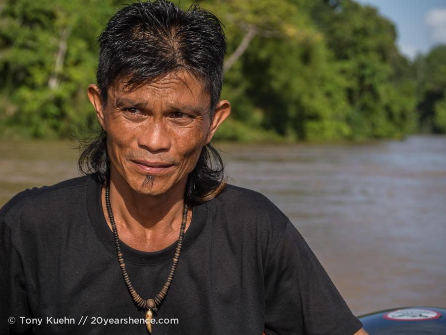 Our Borneo wildlife river safari guide, Lewis
