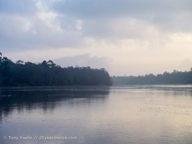 Kinabatangan River at dawn