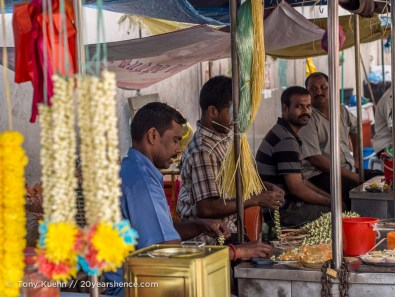 Flower vendors at Sri Mahamariamman