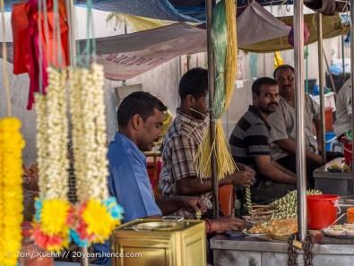 Flower vendors at Sri Mahamariamman