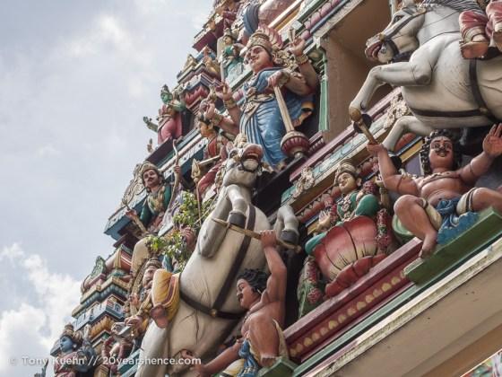 Statues on Sri Mahamariamman Gopura