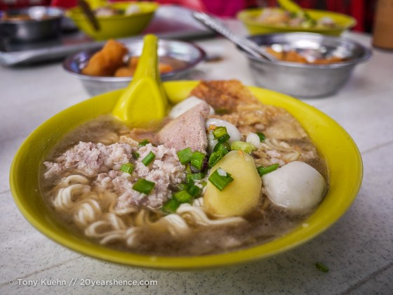 Noodle soup in Penang