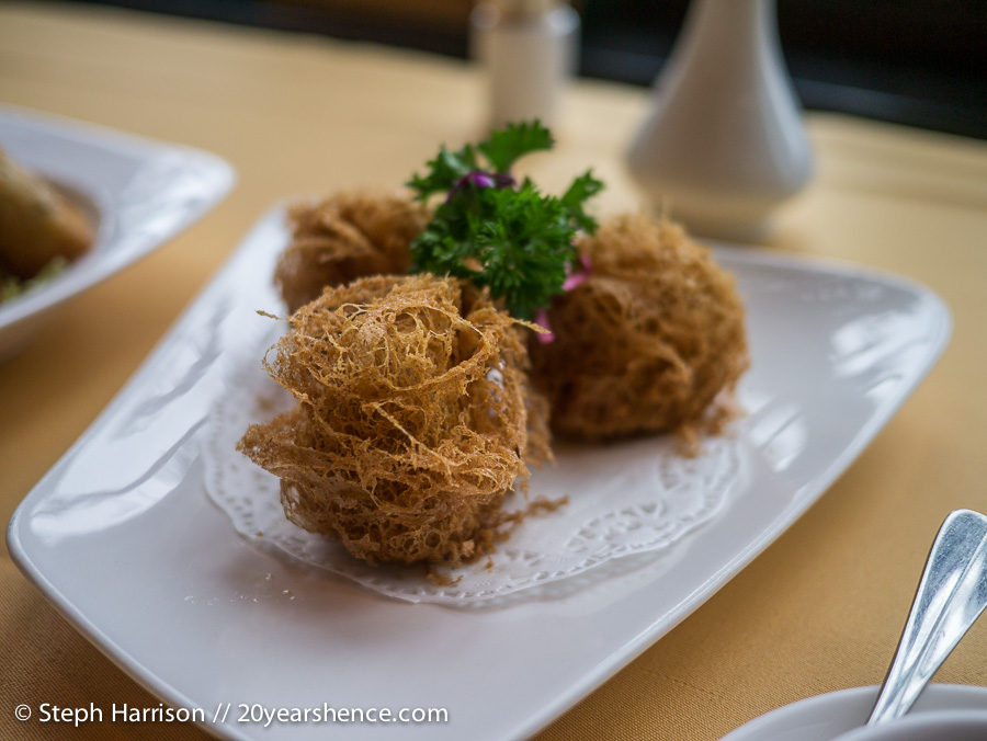 Deep-fried taro dumplings