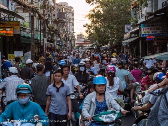 Crowded streets, Ho Chi Minh City