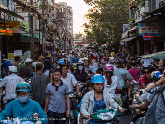 Crowded streets, Ho Chi Minh City