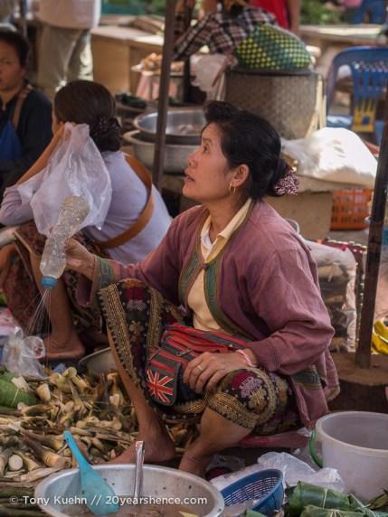 Vendor at the Savannakhet market