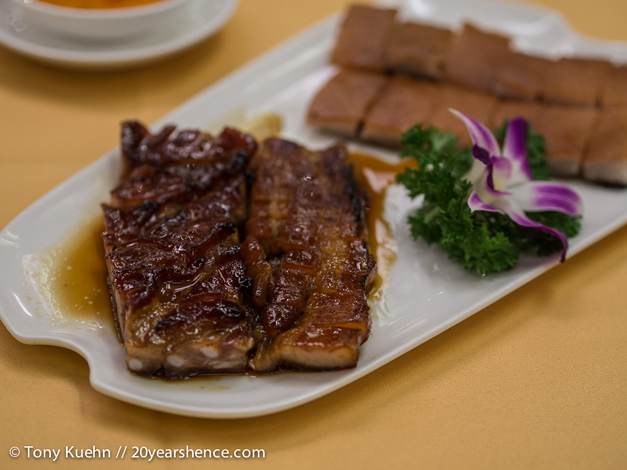 Sweet char siu barbecue pork ribs