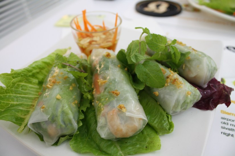 Spring rolls in Siem Reap, Cambodia