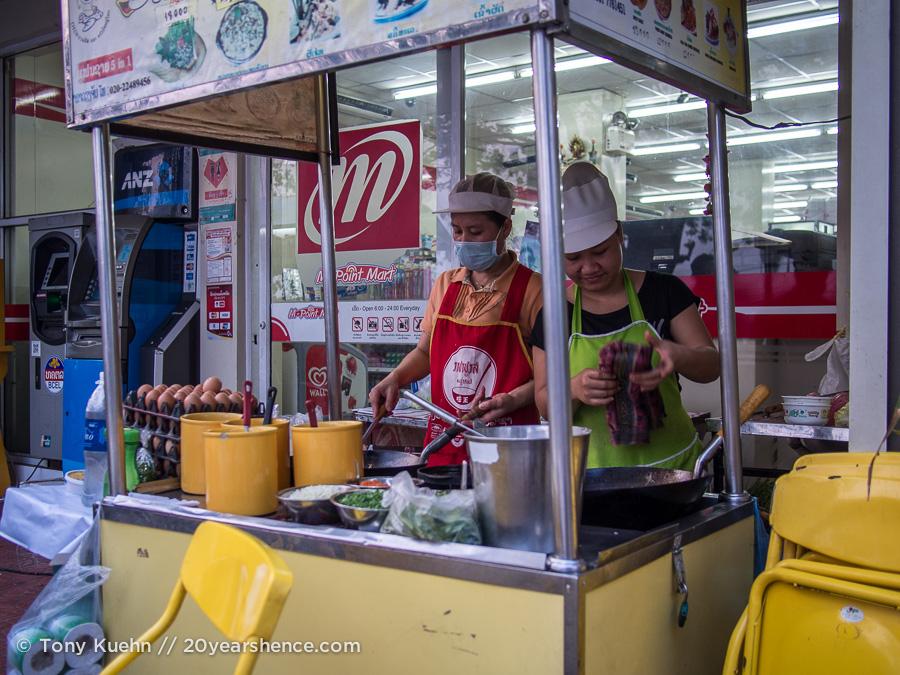 Thai food stall, Vientiane
