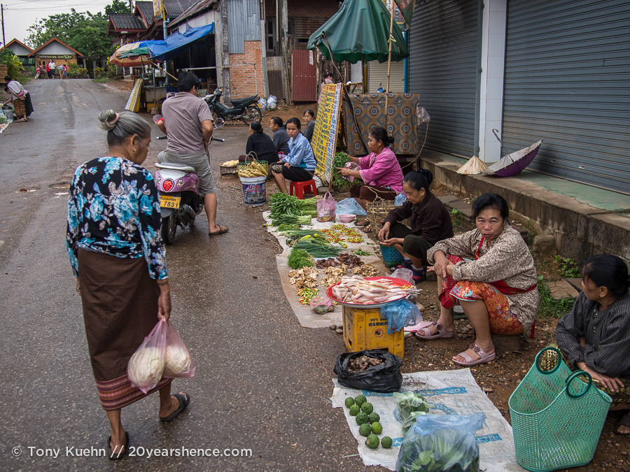 Morning market, Vang Vieng, Laos