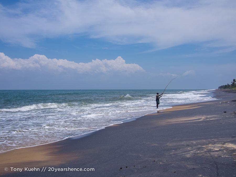 Fishing on the coast of Sri Lanka
