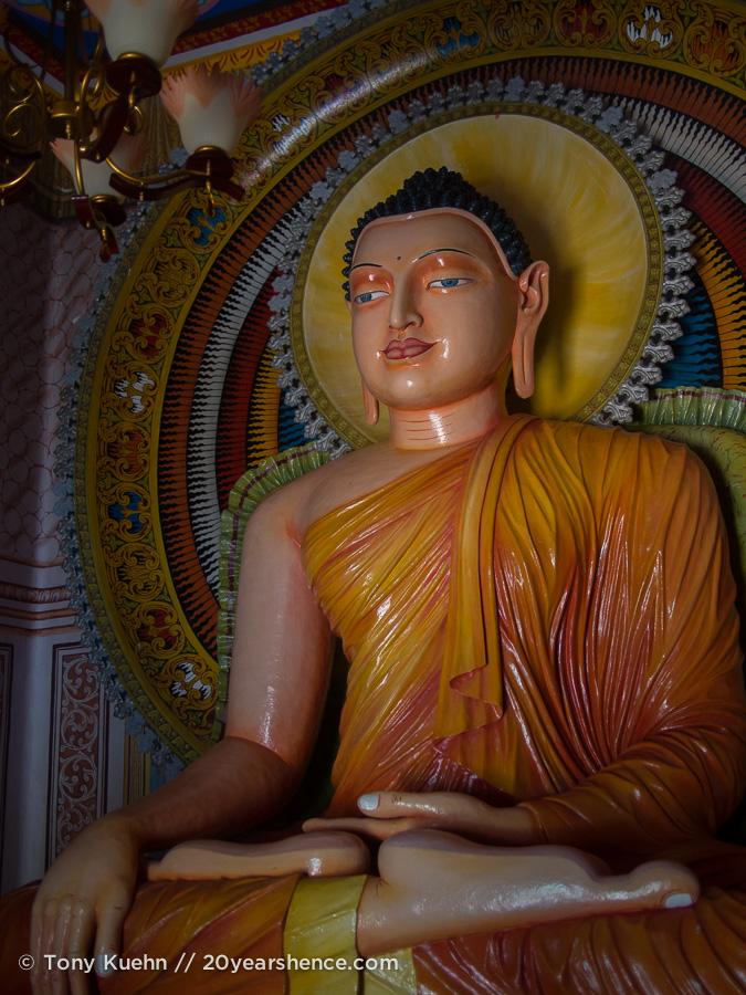 The neighborhood temple in Ambalangoda