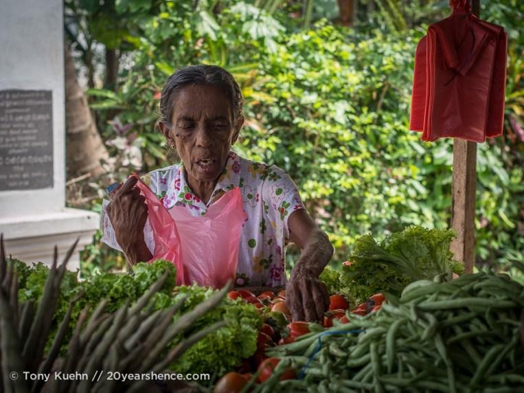 Galle Market vendor