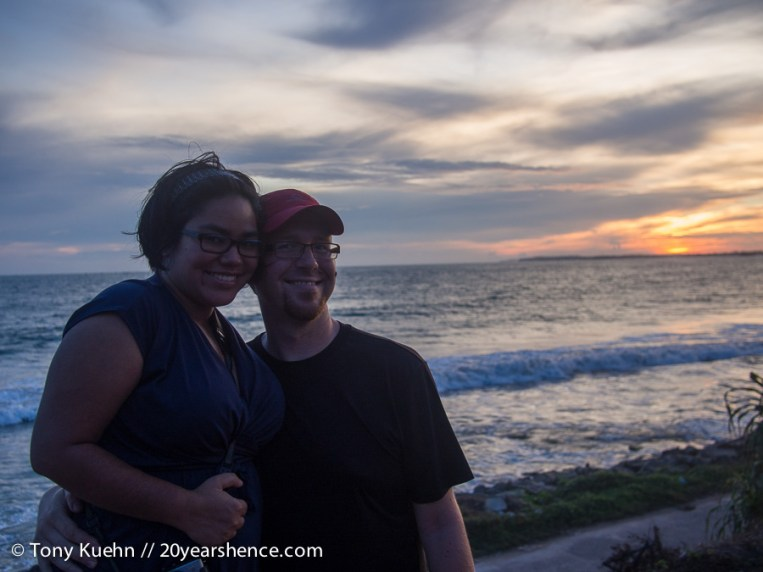 Steph & Tony Sri Lanka sunset