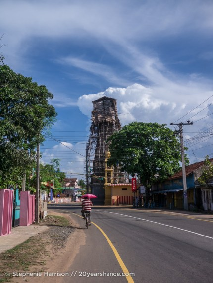 A temple under construction, near Baticaloa, Sri Lanka