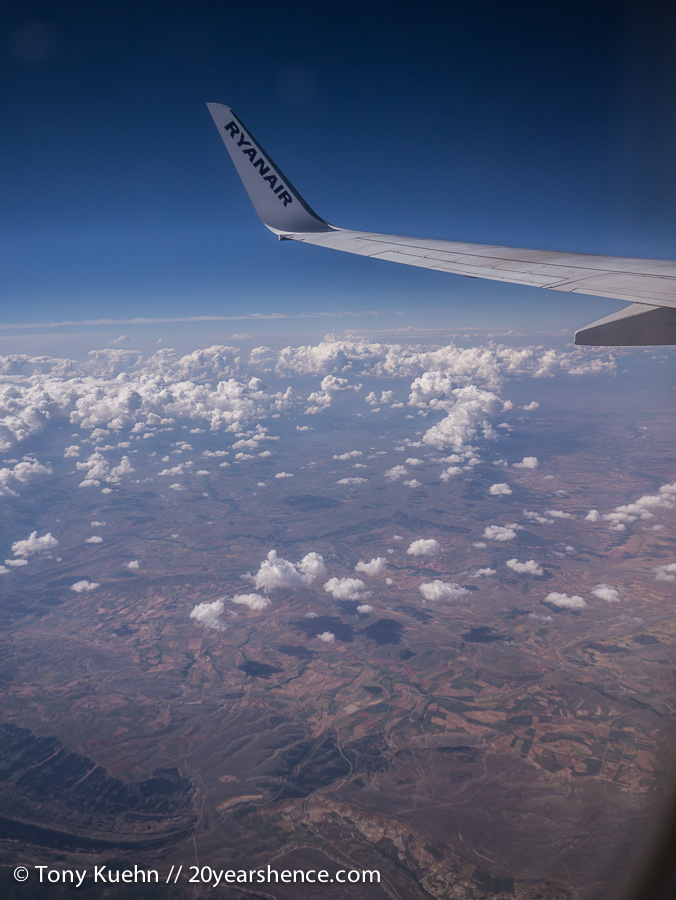 View over Spain from plane