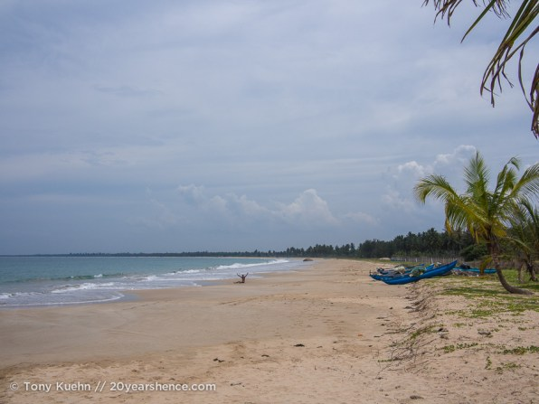 A beach near Baticaloa, Sri Lanka