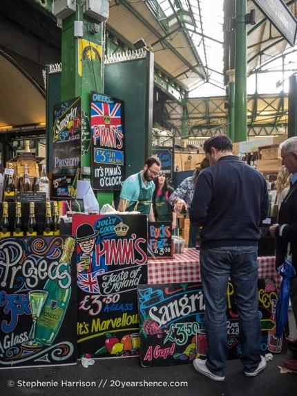 Pimm's vendor, Borough Market, London