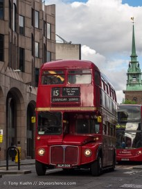 A double decker bus, London