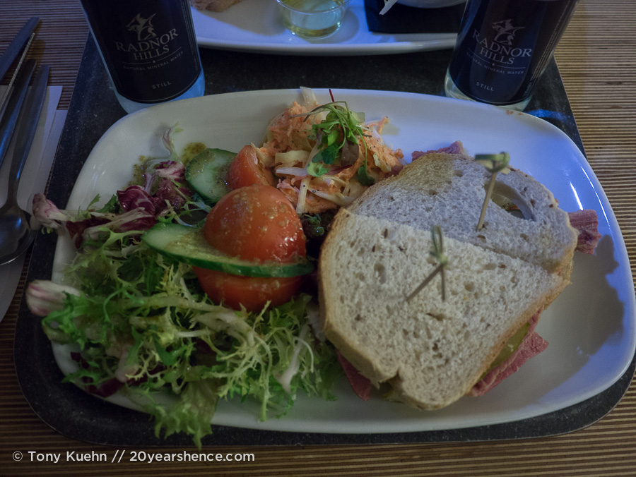 A sandwich from Café in the Crypt