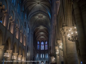 Inside the Notre Dame Cathedral